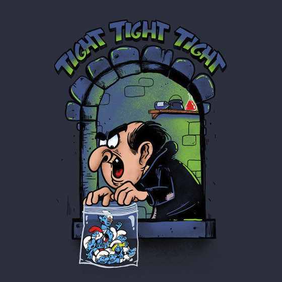 Smurfs Breaking Bad Gargamel Tuco Tight Tight Tight T-Shirt