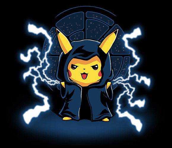 Pikachu Emperor Palpatine Pokemon Star Wars T-Shirt