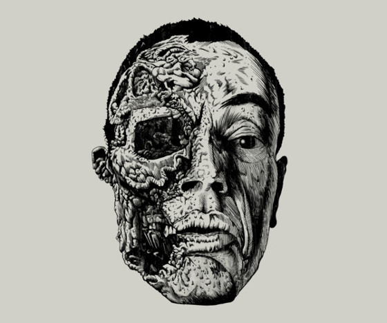 Gus Fring Face Off Breaking Bad T-Shirt