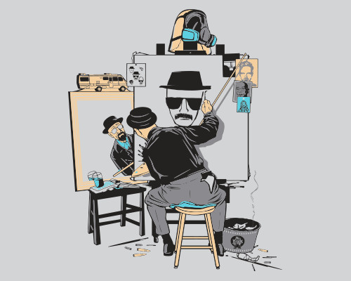 Heisenberg Self-Portrait Breaking Bad Norman Rockwell T-Shirt