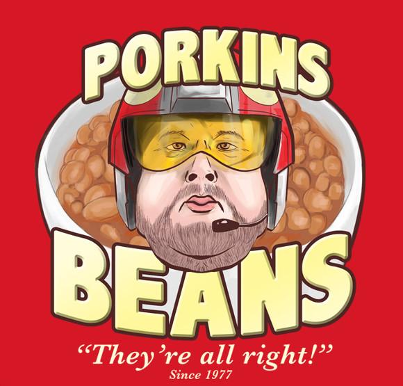 Jek Porkins Pork and Beans Funny Star Wars T-Shirt