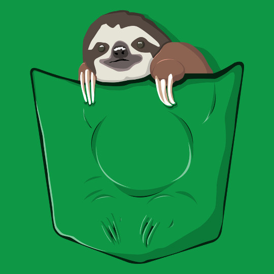 Pocket Sloth Cute Funny T-Shirt