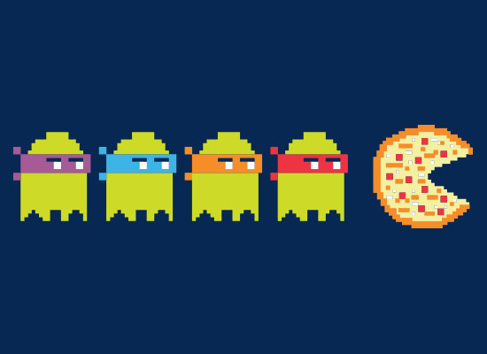 Teenage Mutant Ninja Turtles Pac-Man Pizza T-Shirt