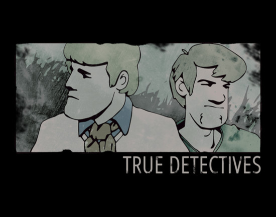 True Detective Scooby-Doo Fred Shaggy T-Shirt