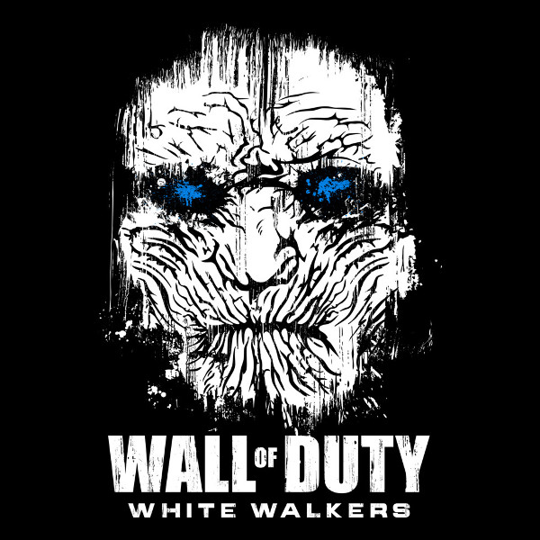 Wall of Duty White Walkers Call of Duty Game of Thrones T-Shirt