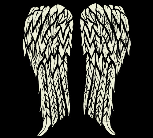 Daryl Dixon Angel Wings Walking Dead T-Shirt