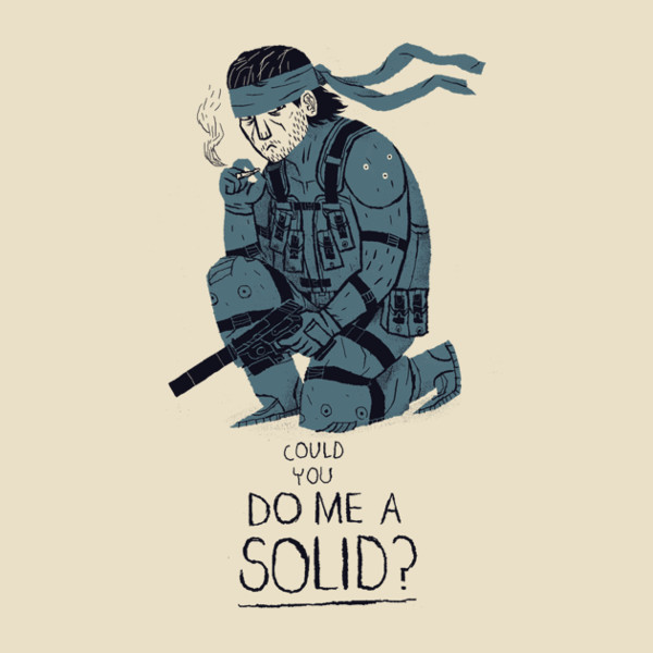 Do Me A Solid Snake Metal Gear T-Shirt