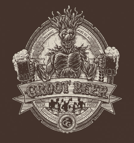 Limited Edition Guardians of the Galaxy Groot Beer T-Shirt
