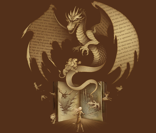 Game of Thrones Book Art Dragon Wolf Stag T-Shirt
