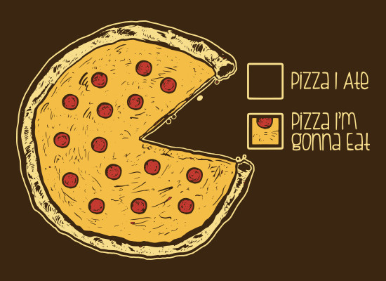 Pizza Pie Chart Ate Gonna Eat Funny T-Shirt