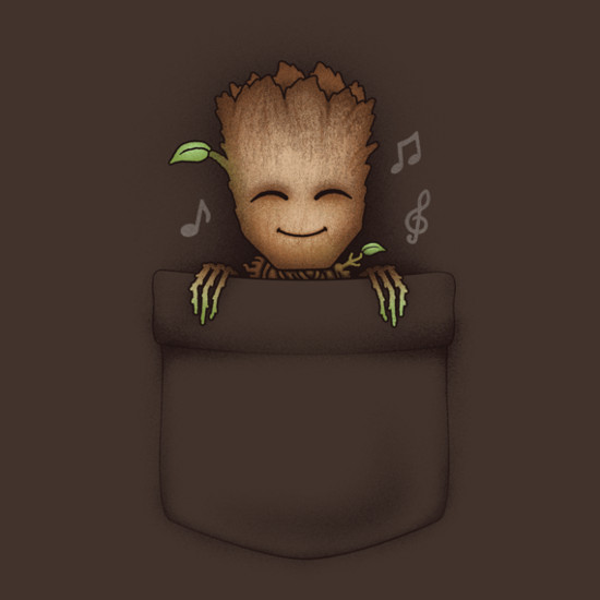 Groot Pocket Guardians of the Galaxy T-Shirt