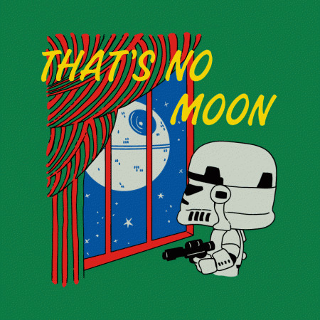 Goodnight Moon Death Star Wars Funny T-Shirt