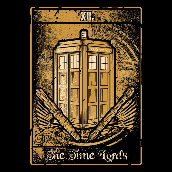 Time Lords Doctor Who Tarot Card T-Shirt