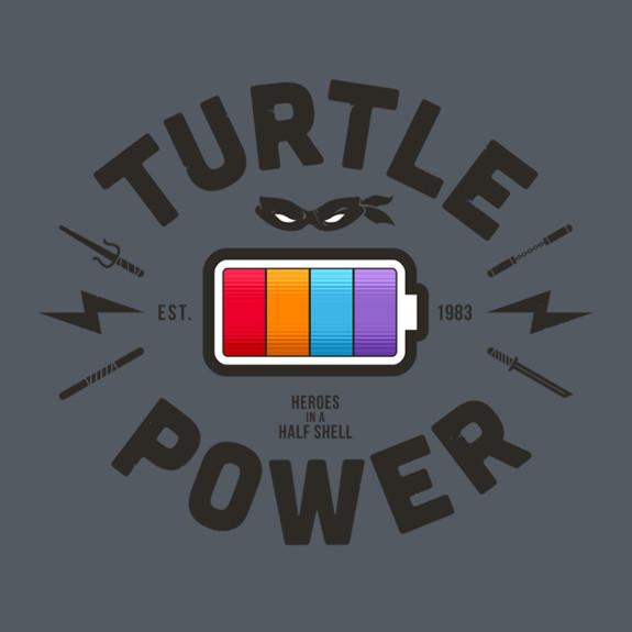 Turtle Power TMNT Battery T-Shirt