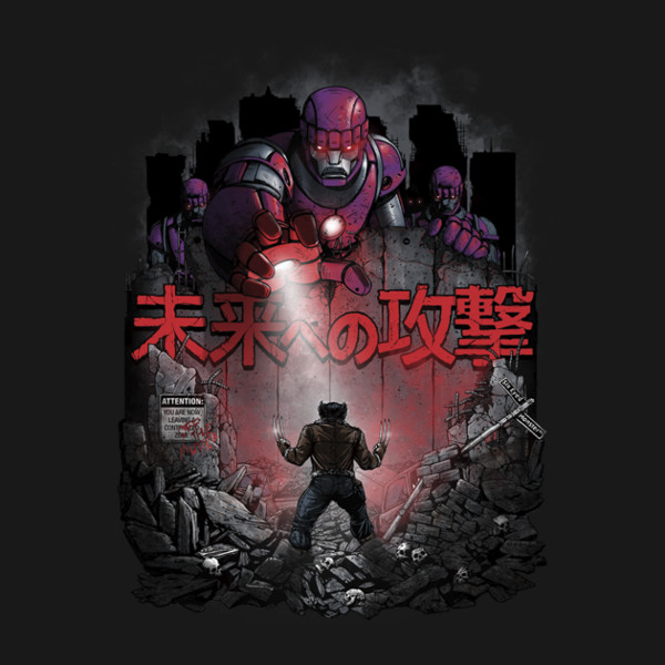 Attack on Titan X-Men Wolverine T-Shirt