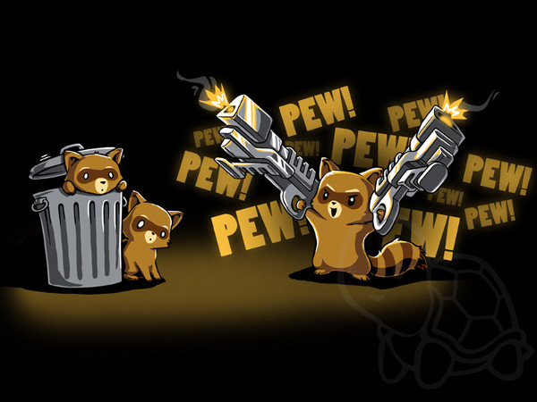 Rocket Raccoon Big Guns Cute Guardians of the Galaxy T-Shirt
