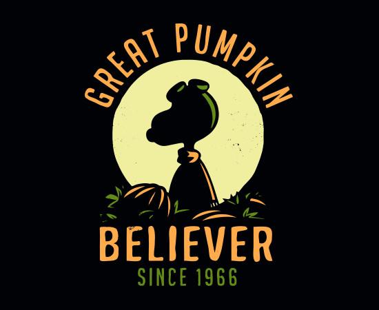 Great Pumpkin Believer Snoopy Charlie Brown Halloween T-Shirt