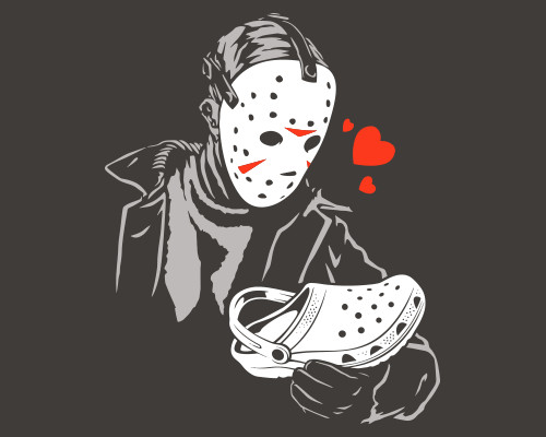 Jason Voorhees Loves Crocs Shoes Friday the 13th T-Shirt