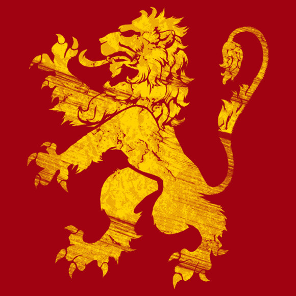 Golden Lion Crimson Red Game of Thrones T-Shirt