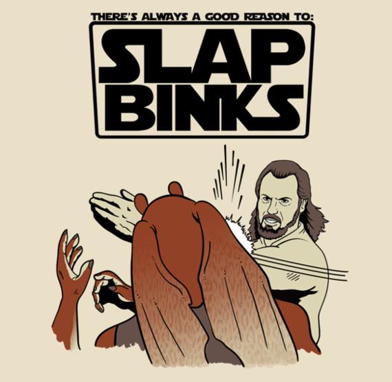 Slap Jar Jar Binks Funny Star Wars T-Shirt