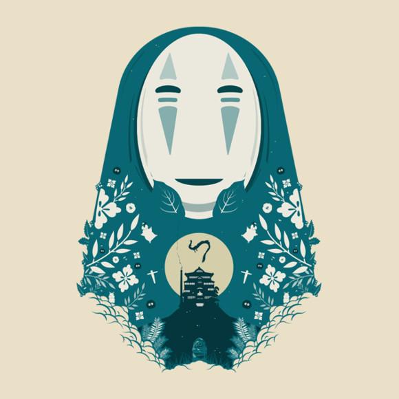 Spirited Away No-Face Papercut T-Shirt