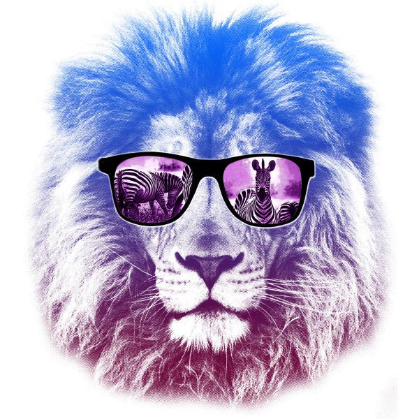 Lion Wearing Zebra Sunglasses Funny T-Shirt