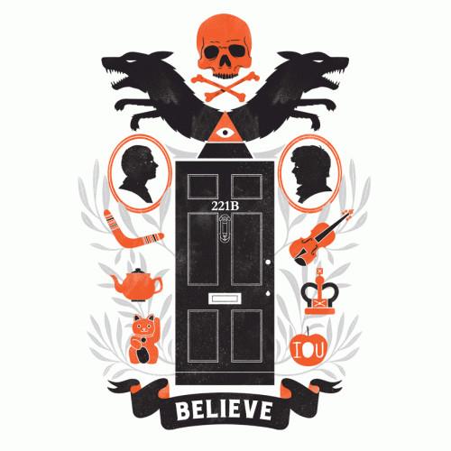 Sherlock Believe 221B Baker Street T-Shirt