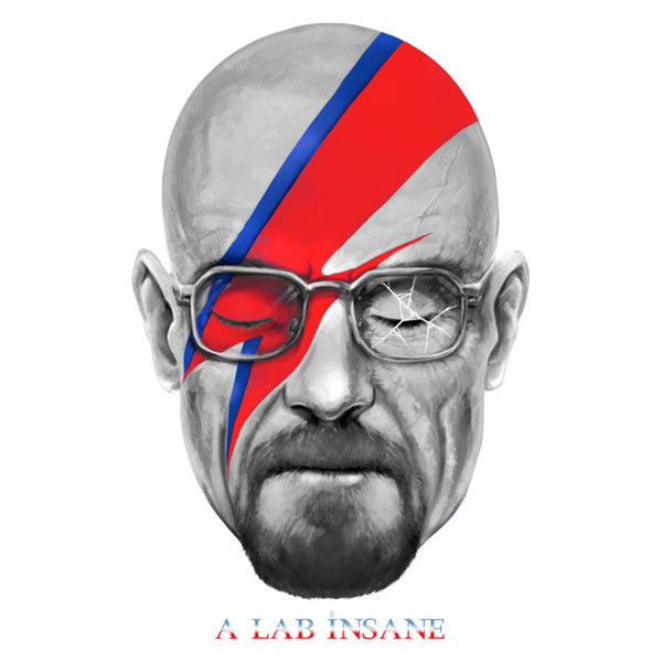 A Lab Insane Walter White Bowie Breaking Bad T-Shirt