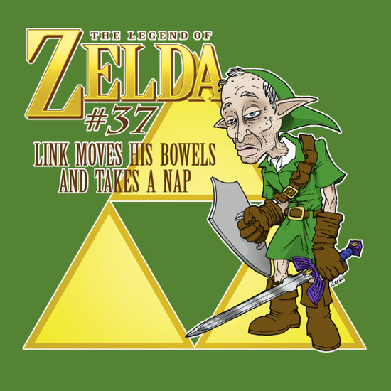 Link Bowels Nap Legend of Zelda 37 Funny T-Shirt