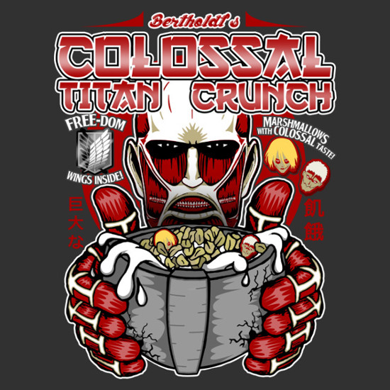 Colossal Attack on Titan Crunch Cereal T-Shirt