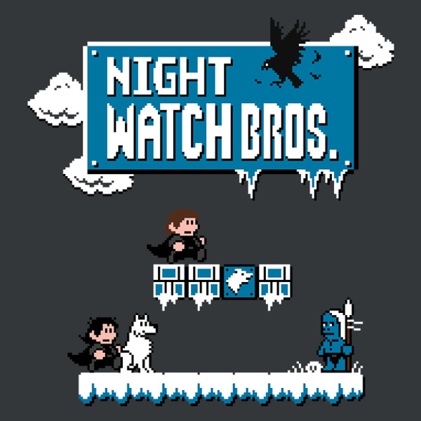 Night's Watch Super Mario Bros Game of Thrones T-Shirt