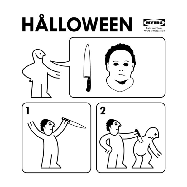 Halloween Ikea Instructions Michael Myers T-Shirt