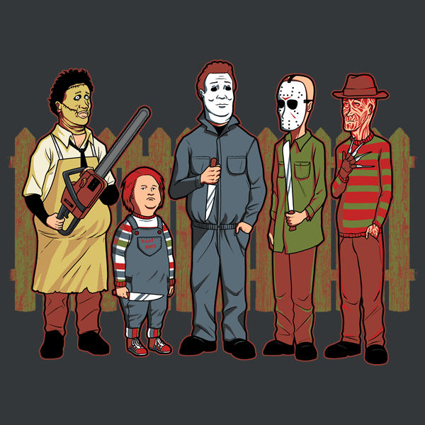 King of the Hill Horror Movie Characters T-Shirt