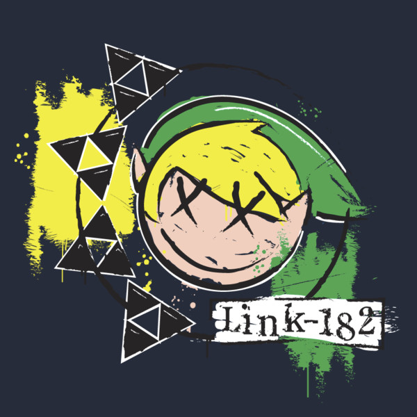 Link-182 Legend of Zelda Blink 182 T-Shirt