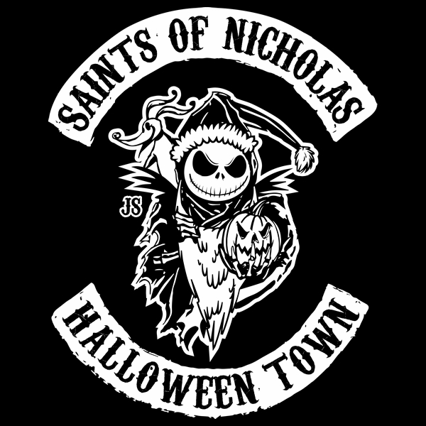 Sons of Anarchy Nightmare Before Christmas T-Shirt