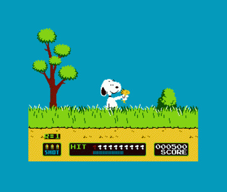 Snoopy Duck Hunt Woodstock T-Shirt
