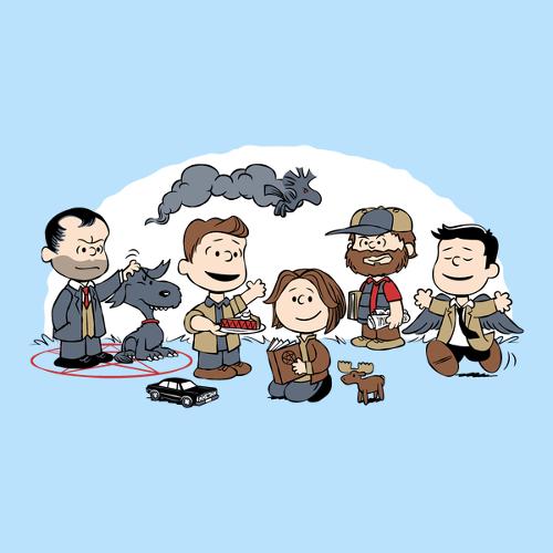 Supernatural Peanuts Gang Charlie Brown Winchester T-Shirt