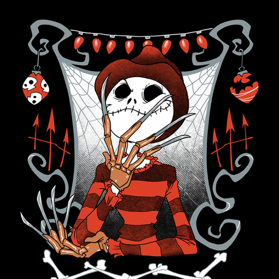 jack freddy krueger nightmare before christmas on elm street t shirt - Nightmare Before Christmas Pics