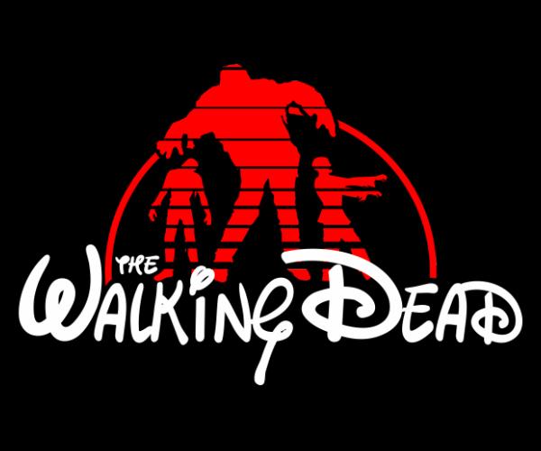 The Walking Dead Disney Logo T-Shirt