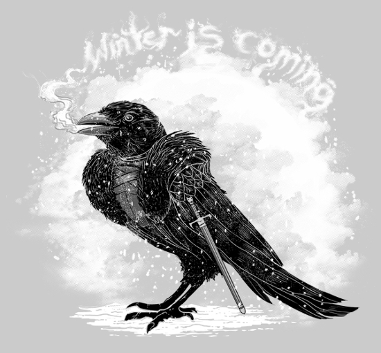 Winter Is Coming Crow Jon Snow Game of Thrones T-Shirt