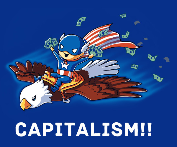 Capitalism USA Eagle Money Hero T-Shirt