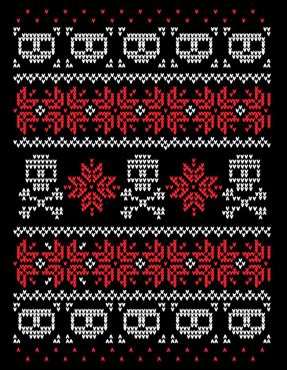 Christmas Skulls Sweater T-Shirt