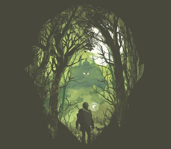Legend of Zelda Link Face Hyrule Forest T-Shirt
