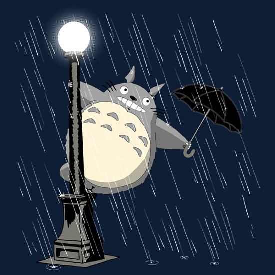 My Neighbor Totoro Singing In The Rain T-Shirt
