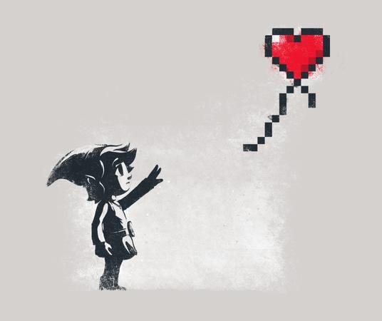Link With a Heart Balloon Banksy Legend of Zelda T-Shirt