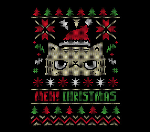 Meh! Christmas Grumpy Cat Sweater T-Shirt