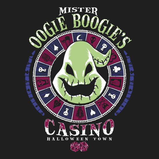 Oogie Boogie Man Casino Nightmare Before Christmas T-Shirt