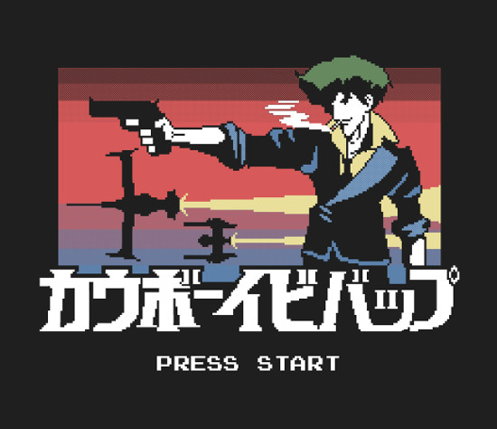 Retro Cowboy Bebop 8-Bit Pixel Game T-Shirt