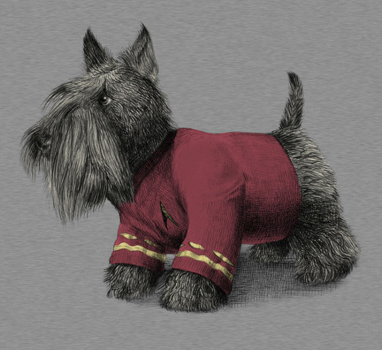 Scotty Scottish Terrier Star Trek T-Shirt