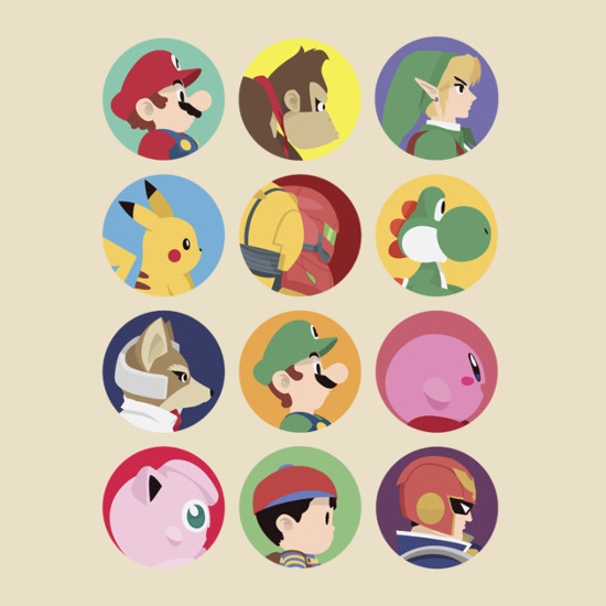 Super Smash Bros. Character Profiles 1999 T-Shirt